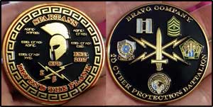 United States States Army 2D Cyber Protection Battalion, Bravo Company challenge coin