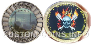 photographic printing on custom coins